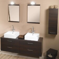 """Aurora 60"""" Double Bathroom Vanity Set with Mirror"""