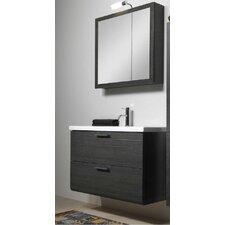 """Luna 39"""" Single Bathroom Vanity Set with Mirror"""