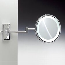Fluorescent Light 5X Magnifying Mirror with Direct Wired Connection