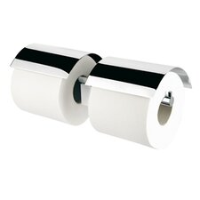 Nexx Wall Mounted Double Toilet Paper Holder with Cover