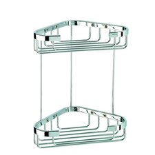 Basket Double Medium Corner Shower Basket in Chrome