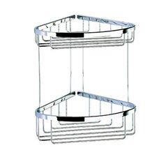 Basket Double Large Corner Shower Basket in Chrome
