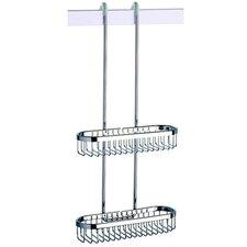 Basket Double Shower Basket in Chrome