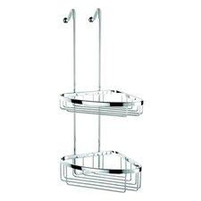 Basket Large Double Corner Shower Basket in Chrome