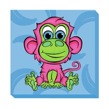 Monkey Zoo Baby Canvas Art