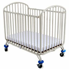 Folding Arched Compact Convertible Crib with Mattress