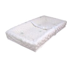 4-Sided Square Corner Changing Pad with Natural Bamboo Quilted Cover