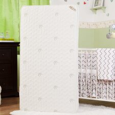 "Baby Essentials VII 2 in 1 5.75"" Crib Mattress with Coconut Fiber, Organic Cotton Layer & Blended Viscose Bamboo Quilted Cover"
