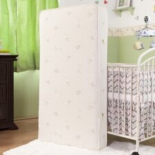 "Essentials V 5.75"" Crib Mattress with Savannah Print Blended Organic Cotton Cover & Organic Layers"