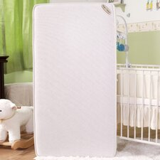 "Natural V Triple Zone 2 in1 Breathe-Safe Soy Foam 5.75"" Crib Mattress with Blended Organic Cotton Cover"