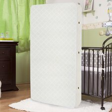 "Eco Friendly 2 in 1 Soy Foam 5.75"" Crib Mattress with Natural Coconut Fiber & Organic Cotton Layer"