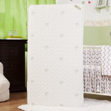 "Natural I Two in One 5.75"" Crib Mattress with Coconut Fiber, Organic Cotton Layer & Blended Viscose Bamboo Quilted Cover"