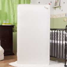 "Two in One 5.75"" Crib Mattress with Jacquard Cover & Organic Cotton Layer"