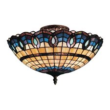 Victorian Ribbon 3 Light Outdoor Semi-Flush Mount