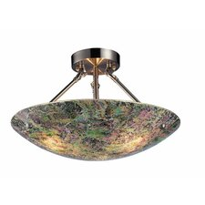 Avalon 3 Light Outdoor Semi-Flush Mount