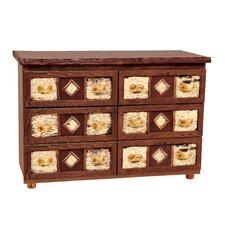 Premium Cedar 6 Drawer Dresser