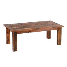 Reclaimed Barnwood Open Coffee Table with Barnwood Trim