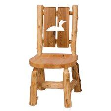 Traditional Cedar Log Cut Out Side Chair