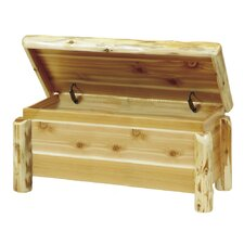 Traditional Cedar Log Blanket Chest