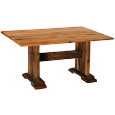 Reclaimed Barnwood Rectangle Harvest Dining Table