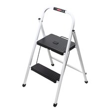 2-Step Steel Folding Lightweight Step Stool with 200 lb. Load Capacity