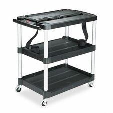 Rubbermaid® Media Master™ Threee-Shelf Audio-Visual Commercial AV Cart