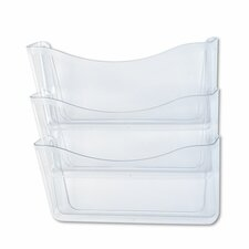 Unbreakable Three-Pocket Wall File Set,  A4/Letter, Clear