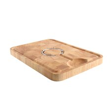 End Grain Carving Board with Removable Spiked Ring