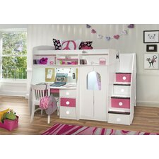 Play and Study Twin Loft Bed with Storage