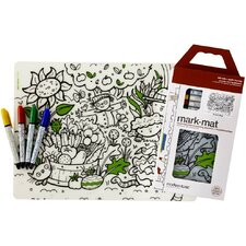 Mark-Mat Garden Play Placemat with 4 Markers