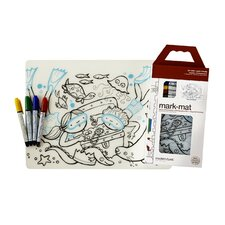 Mark-Mat Treasure Chest Placemat with 4 Markers