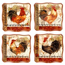 Tuscan Rooster Dessert Plate (Set of 4)