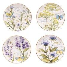 Herb Garden Dessert Plates (Set of 4)