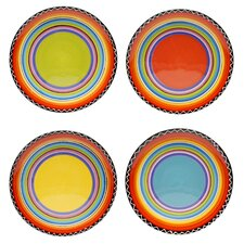Tequila Sunrise Salad Plate (Set of 4)
