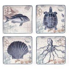Coastal Postcard Dinner Plate (Set of 4)