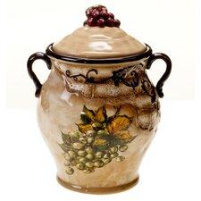 Tuscan View Biscotti Jar