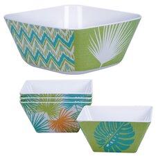 Paradise 5 Piece Salad and Bowl Set