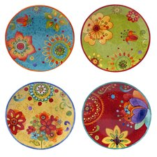 "Tunisian Sunset 4 Piece 8.75"" Salad Plate Set"