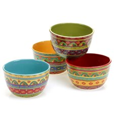 Tunisian Sunset 4 Piece Ice Cream Bowl Set