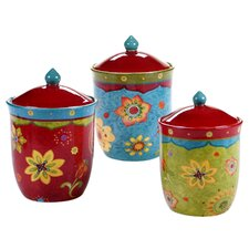 Tunisian Sunset 3 Piece Canister Set