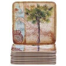 "Palms 6"" Melamine Canape Plate (Set of 12)"