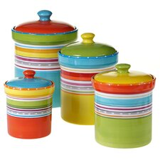 Mariachi 4 Piece Canister Set