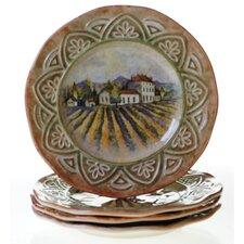 "Sanctuary Wine 11.25"" Dinner Plate (Set of 4)"