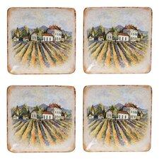"Sanctuary Wine 6"" Canape Plate (Set of 4)"