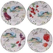 """Villa 8.75"""" Dessert Plate 4 Piece Set"""