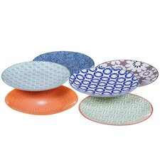 """Mix and Match Chelsea 5.5"""" Canape Plate (Set of 6)"""