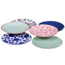 "Mix and Match Soho 5.5"" Canape Plate 6 Piece Set"