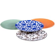 "Mix and Match Chelsea 8.5"" Dessert Plate 4 Piece Set"