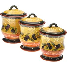 French Olives 3 Piece Canister Set