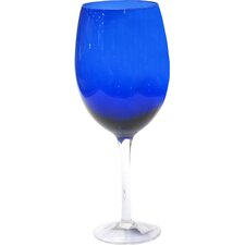 Glass Stemware 20 Oz. Cobalt White Wine Glass (Set of 4)